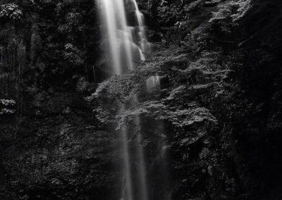 minoh falls bw